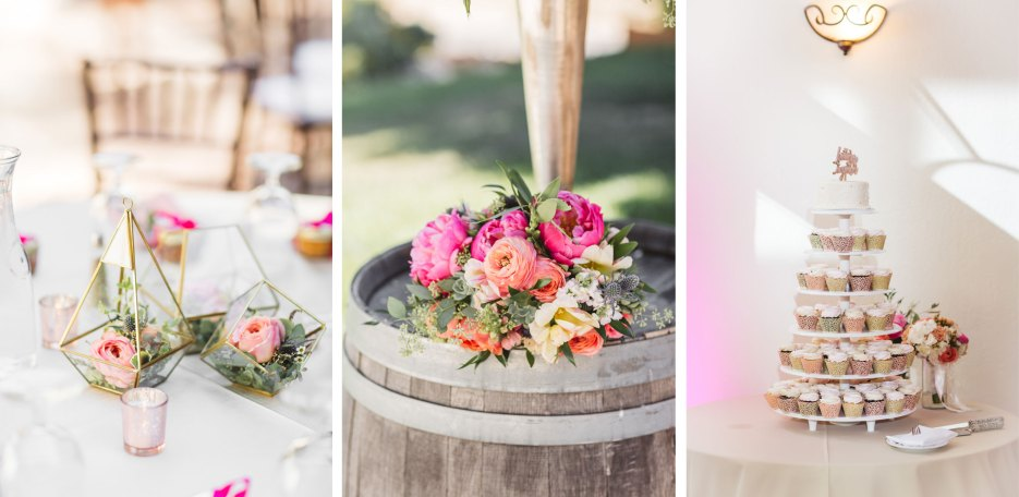 triptych of curated wedding details