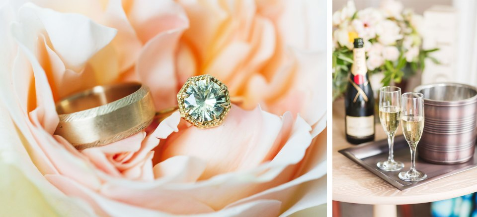 beautiful-wedding-details-ring-and-champagne
