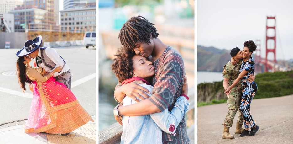 bay area engagement shoot outfit ideas