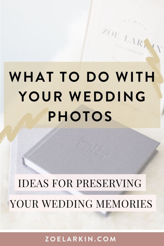 Ideas for what to do with your wedding photos! Don't let them languish on a hard drive - print them, enjoy them! Ideas for making an album, wall art and tips for how to preserve them digitally too. Whoever photographs your wedding, you want to make sure you're getting the most you can out of your finished files from your wedding photography experience! 🎉 #weddingphotography #bayareawedding #weddingplanning | Zoe Larkin Photography