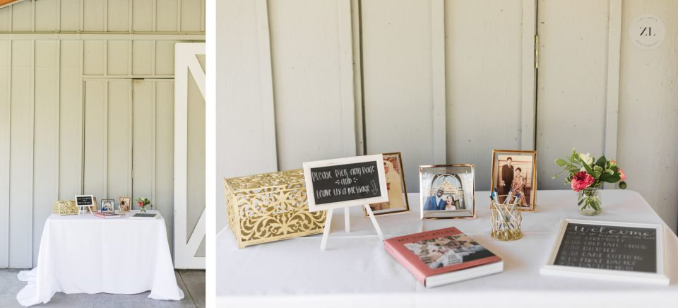 ideas for display table at wedding