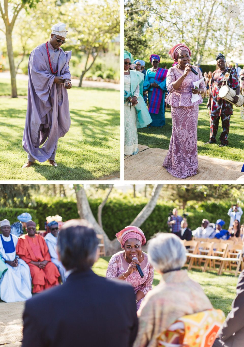nigerian wedding ceremony at cornerstone sonoma wine country