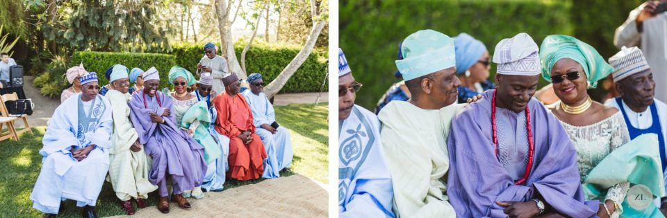 nigerian family members at cornerstone sonoma fusion wedding