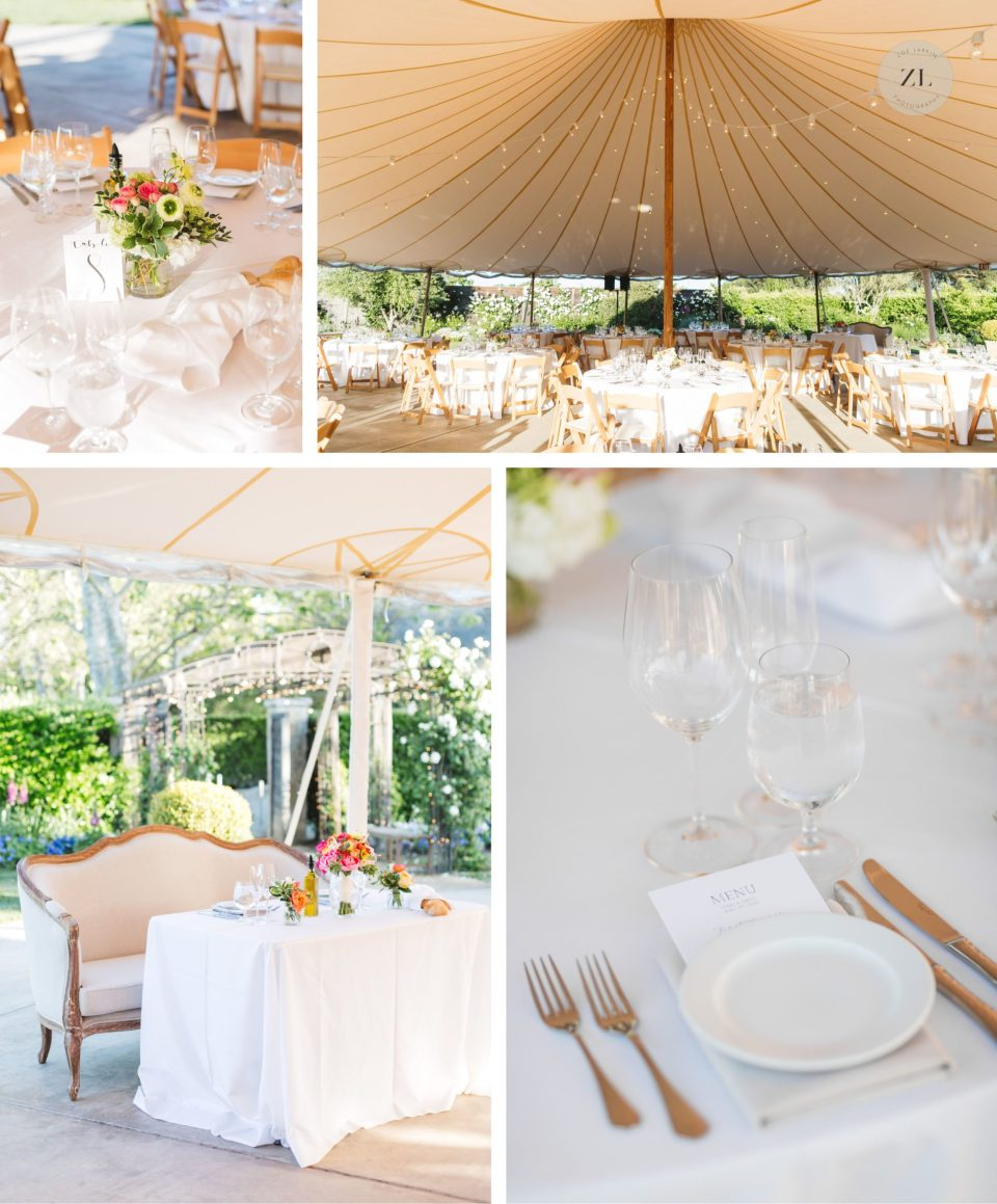 wedding space designed by Lindsey at Ooh La La weddings at cornerstone sonoma wedding