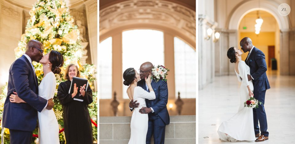 san francisco city hall japanese and nigerian wedding