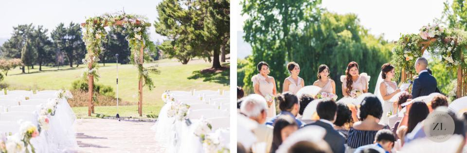 wedding ceremony in boundary oak golf club in walnut creek