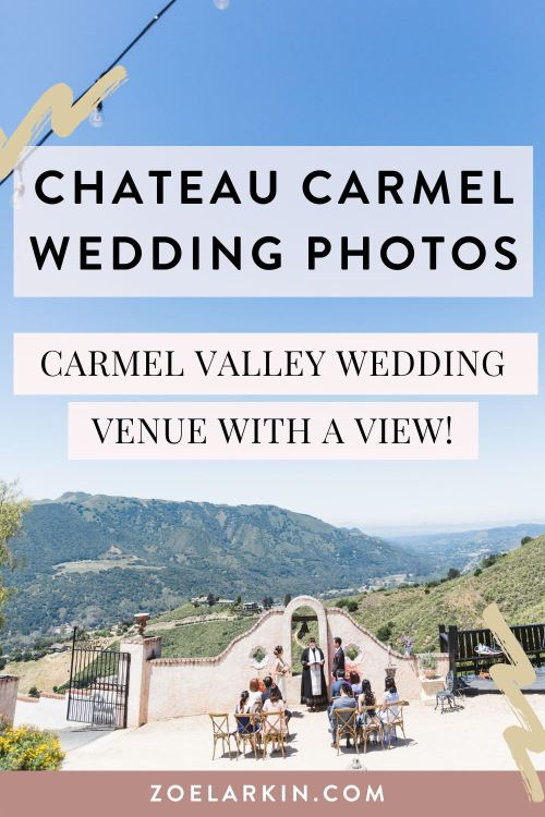 Chateau Carmel Wedding | Looking for ideas for your wedding ceremony or reception, in and around the Bay Area? This Carmel Valley wedding venue could be exactly what you're looking for! Boasting incredible views over Carmel Valley, an elegant feel throughout, accommodation for up to 15 guests. Your intimate wedding just got fancier. This couple exchanged vows, had a tea ceremony and lunch by the endless pool. #bayareawedding #carmelwedding #chateaucarmel | Zoe Larkin Photography