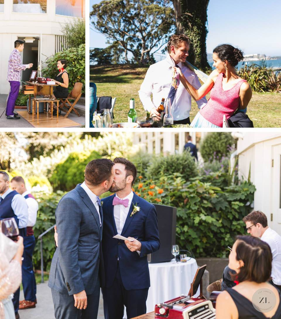 General's Residence at Fort Mason wedding - candid photos