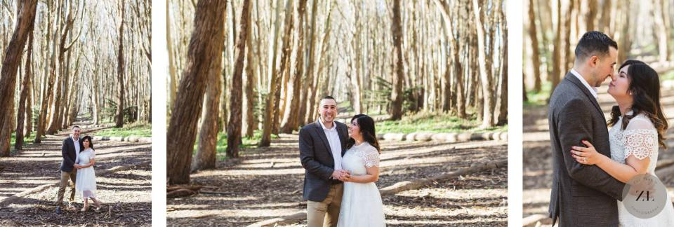 Gorgeous san francisco engagement photography location - lover's lane in the presidio