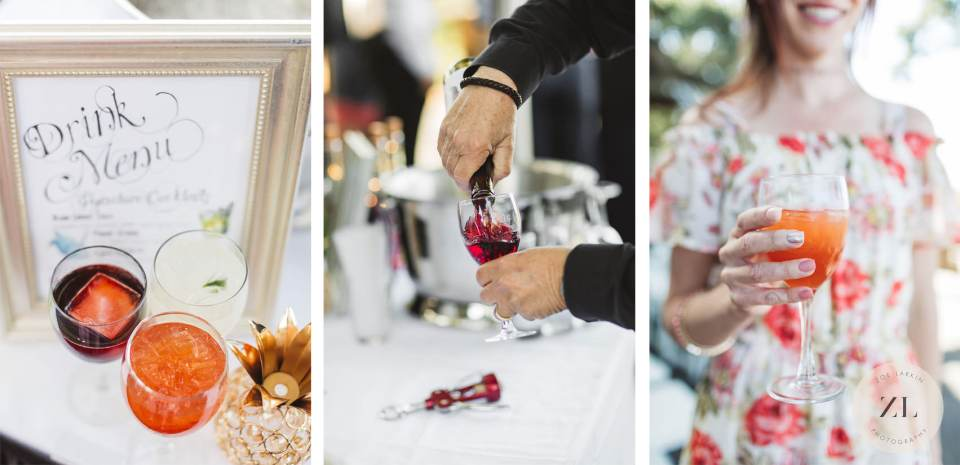 wedding drinks at Quadrus Conference Center | Zoe Larkin Photography