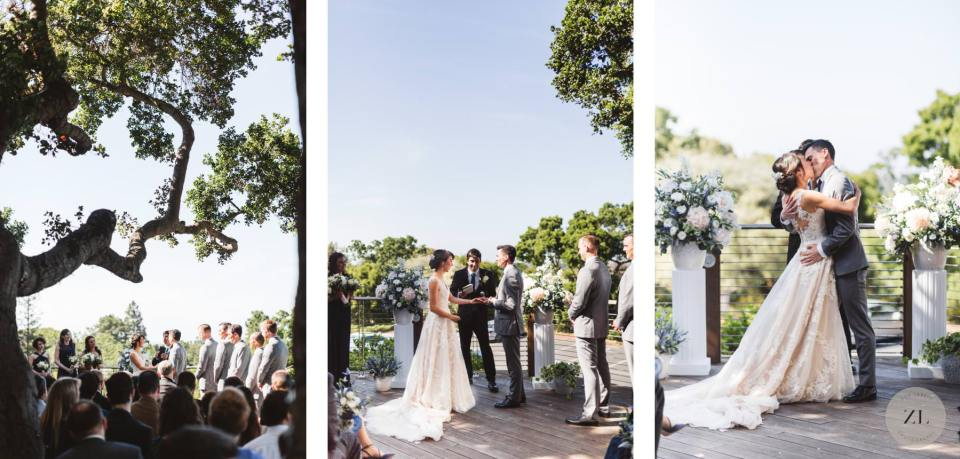 ceremony space at Menlo Park wedding venue, Quadrus by Zoe Larkin Photography