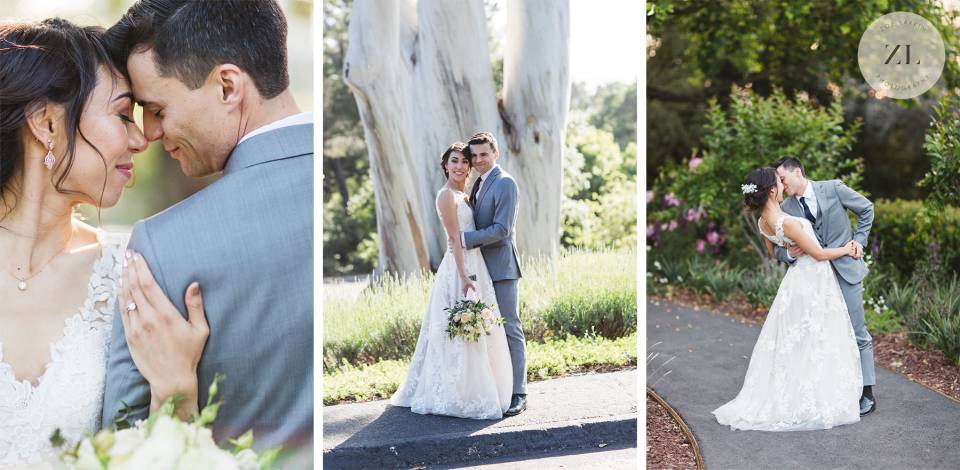 couple's portrait with bride and groom Quadrus Conference Center wedding | Zoe Larkin Photography