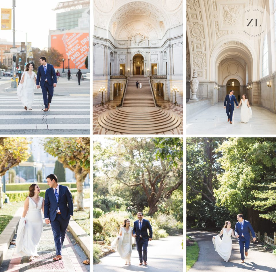 Examples of how one pose works multiple different ways on a wedding day photography session with Zoe Larkin Photography