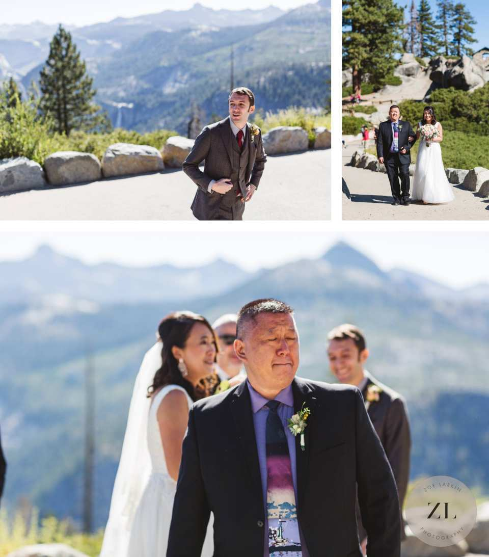 Glacier Point Amphitheater Wedding - Zoe Larkin Photography