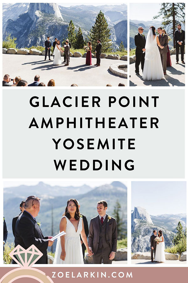 Glacier Point Amphitheater wedding photos from this awesome National Park wedding in Yosemite Valley! Stef and Scott had a beautiful intimate wedding ceremony with fewer than 50guests, overlooking Glacier Point. Simple, sweet and beautiful Yosemite wedding inspiration. | #yosemitewedding #yosemite #nationalparkwedding | Zoe Larkin Photography