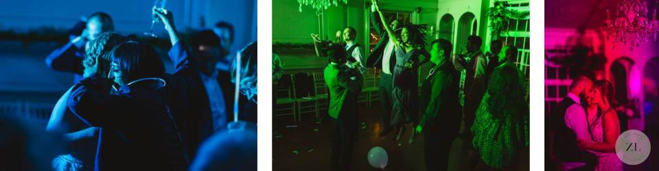 colorful trance party at wedding. By Foresthill wedding photographer Zoe Larkin