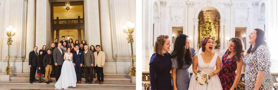 wedding ceremony on Mayor's Balcony at san francisco city hall