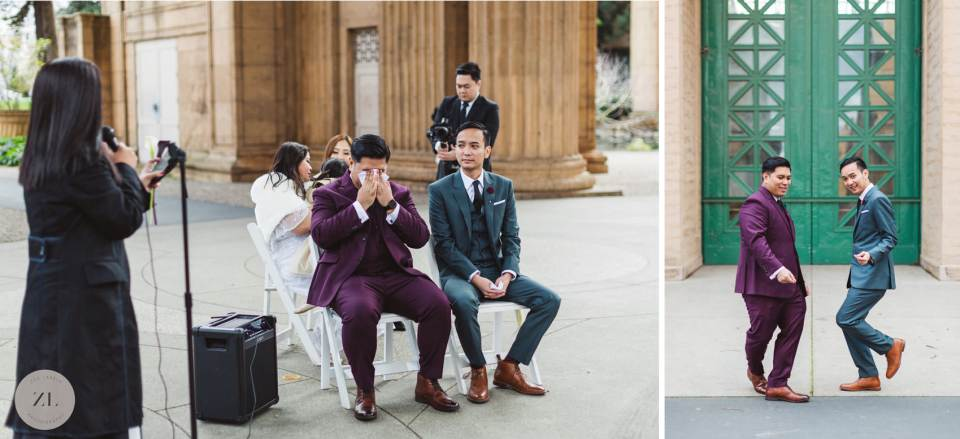 LGBTQ+ couple's wedding featuring tears and joy, reminding us not to take gay marriage for granted