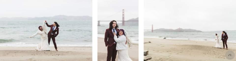 Intimate wedding – beach elopement in San Francisco by Zoe Larkin Photography
