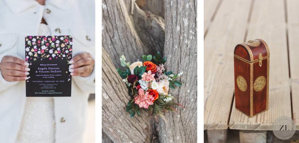 wedding details at San Francisco wedding by Zoe Larkin Photography