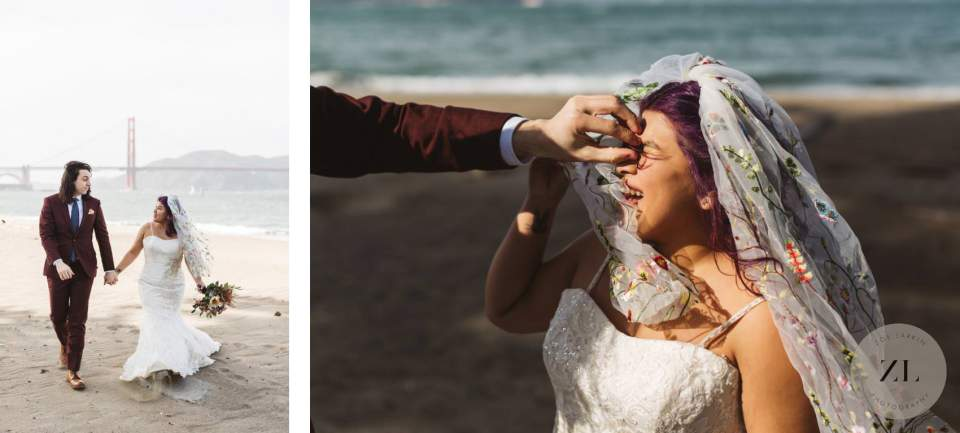 Crissy Field elopement wedding - couples' photos