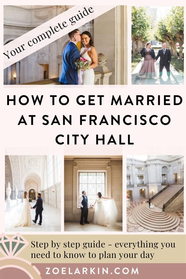 Getting married at San Francisco City Hall? Our expert guide explains how to plan your SF City Hall wedding, from understanding the booking process through what to expect day of. Packed with helpful tips, you'll plan the City Hall wedding of your dreams. Whether you're eloping or having a 100-guest ceremony, our guide is the best and most comprehensive San Francisco City Hall planning resource - and it's free. #sanfrancisco #cityhallwedding #sanfranciscocityhall | Zoe Larkin Photography