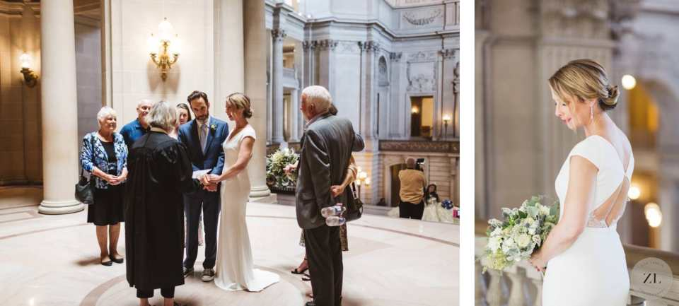 wedding photography timeline for san Francisco city hall wedding