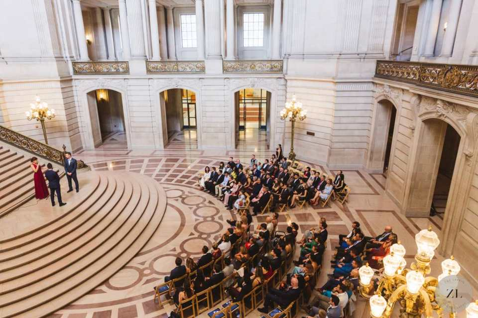 full buyout wedding ceremony at San Francisco City Hall wedding