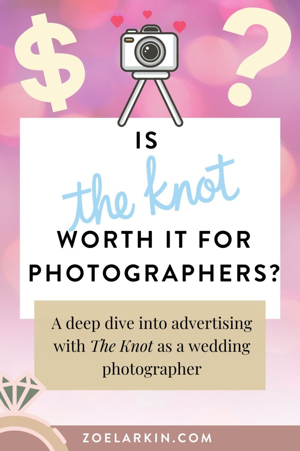 An in depth look at whether The Knot is worth it for wedding photographers in the US with a Featured Storefront. 📈 With a $6,000 price tag in my local wedding market, San Francisco Bay Area, it's a huge investment for your wedding business that I was determined to try out for myself, after hearing it had worked wonders for other wedding photographers. After 1 year or advertising the the wedding platform, the results are in! | #theknot #theknotpro #helloweddingvendor #weddingvendors Zoe Larkin Photography