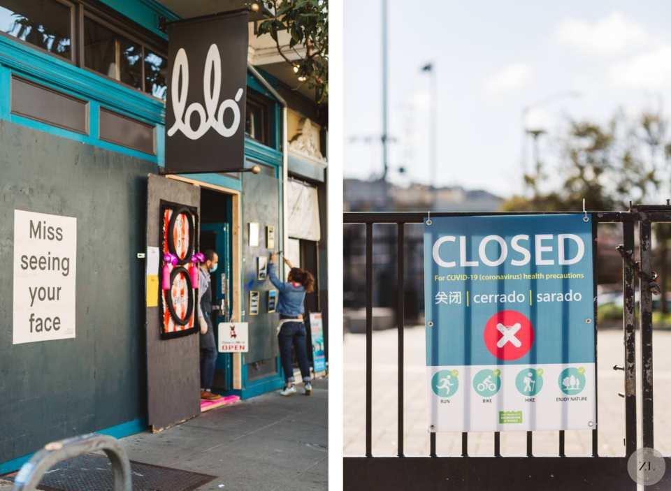 Poignant photos of San Francisco neighborhood shutdown during coronavirus - Lolo on Valencia | Zoe Larkin Photography zoelarkin.com