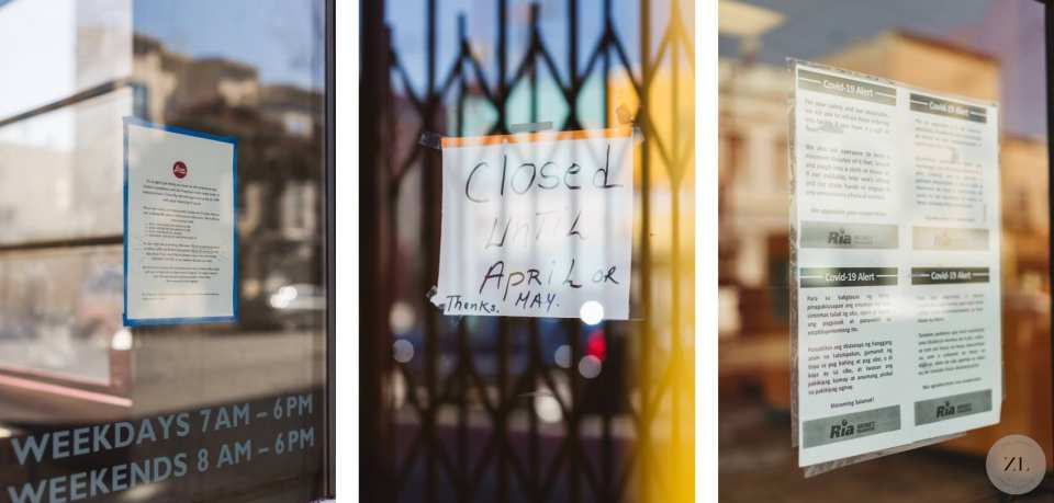 Mission District businesses displaying closed signs in San Francisco | Zoe Larkin Photography zoelarkin.com