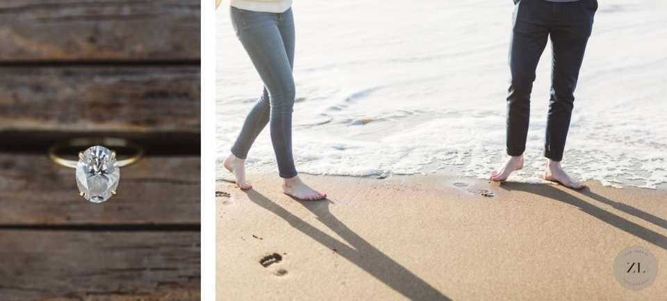 detail photos from Baker Beach engagement photos | Zoe Larkin Photography