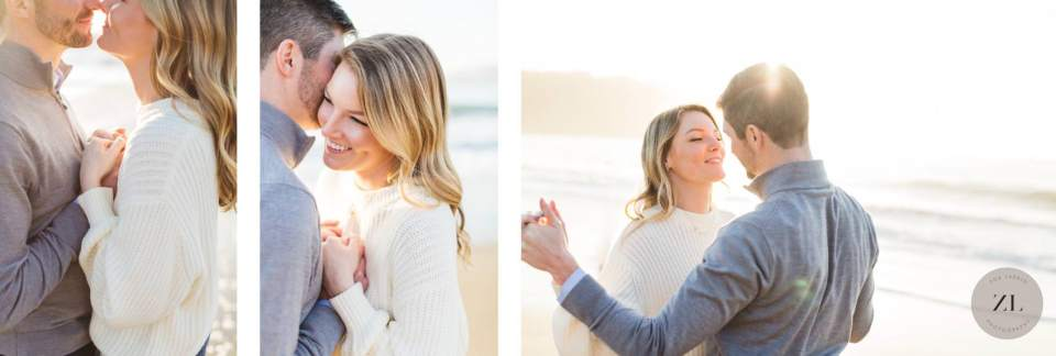 candid, soft and relaxed Photography on San Francisco's Baker Beach – engagement photos | Zoe Larkin Photo
