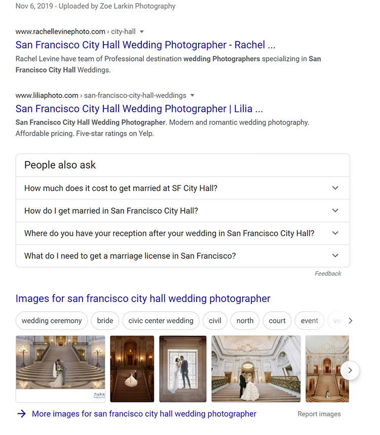 SERP screenshot of the 'people also ask' section of a local search term. Find out how to use People Also Ask for keyword research