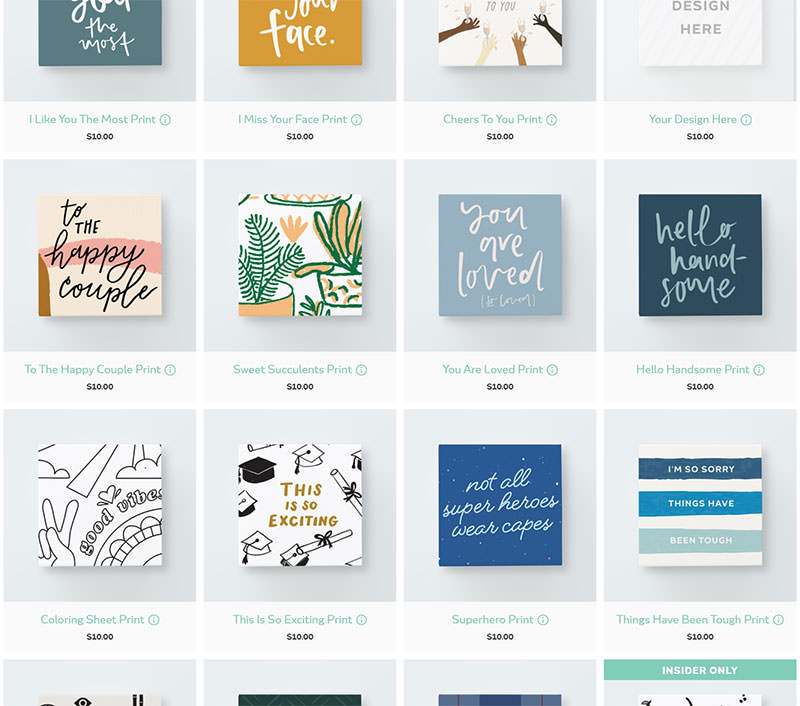 screenshot of Greetabl for client gifting - box designs