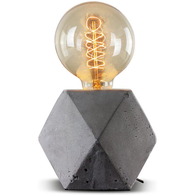 Geometric Hexagon Concrete Table Accent Lamp