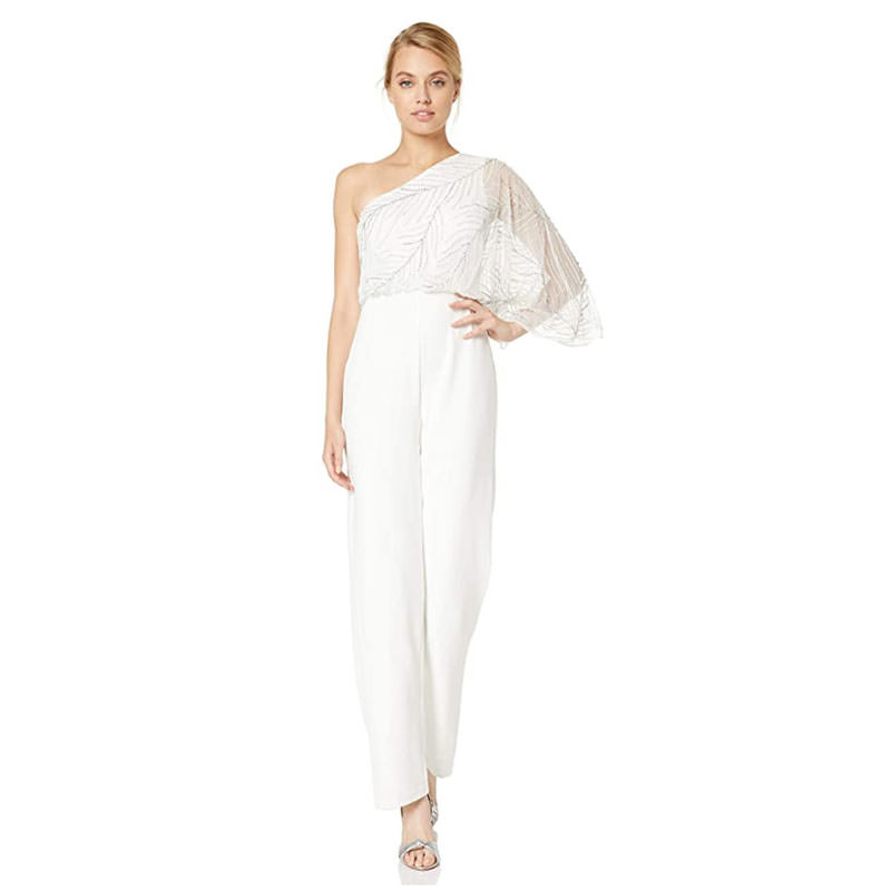 Adrianna Papell Asymmetrical Jumpsuit
