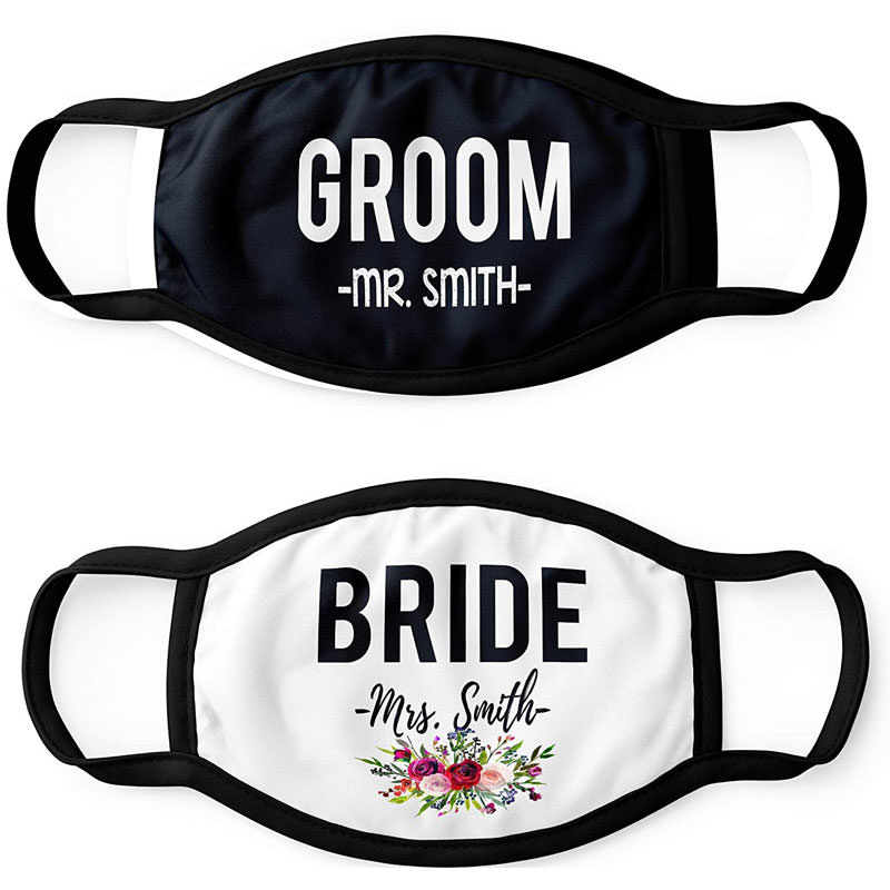 Bride and Groom Face Mask