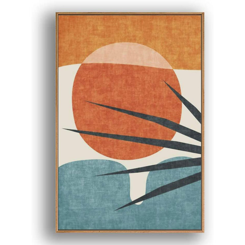 Framed Canvas Abstract Wall Art