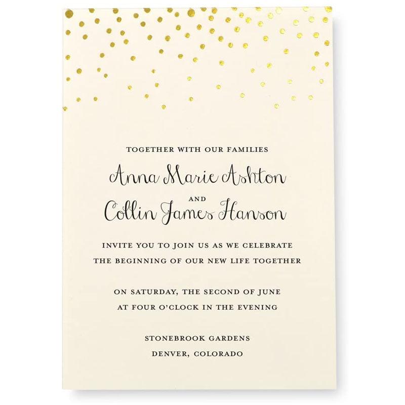 Print at Home Wedding Invitation Kit