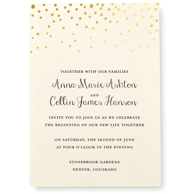 Print at Home Wedding Invitation Kit