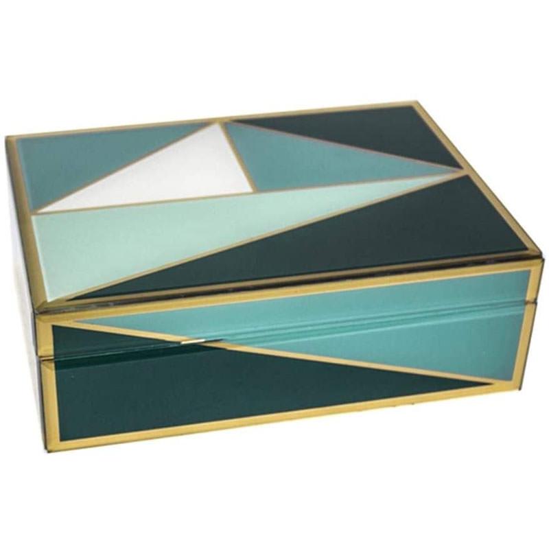 decorative glass storage box
