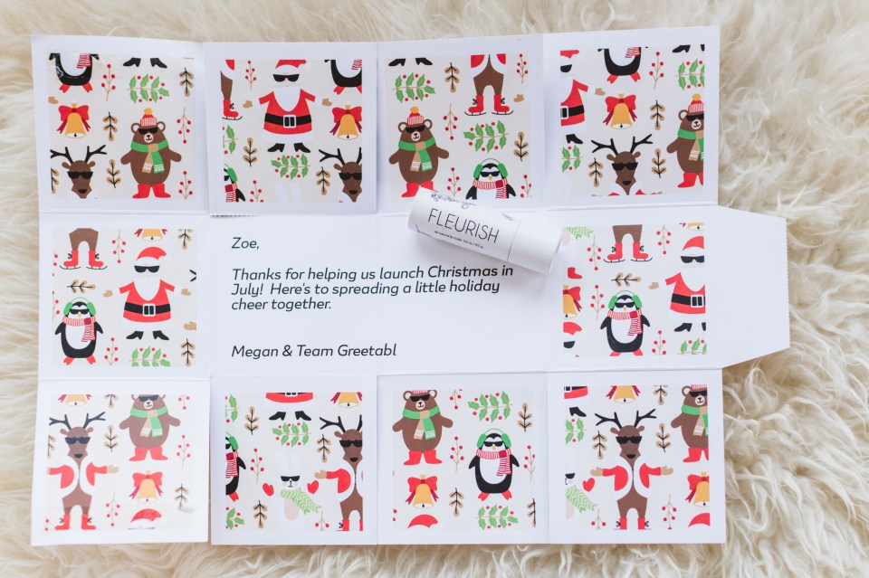 Christmas gifting idea for wedding photographers in the US - use Greetabl for the holidays 2020 and preview Greetabl's festive designs. Get 20% off with my exclusive code