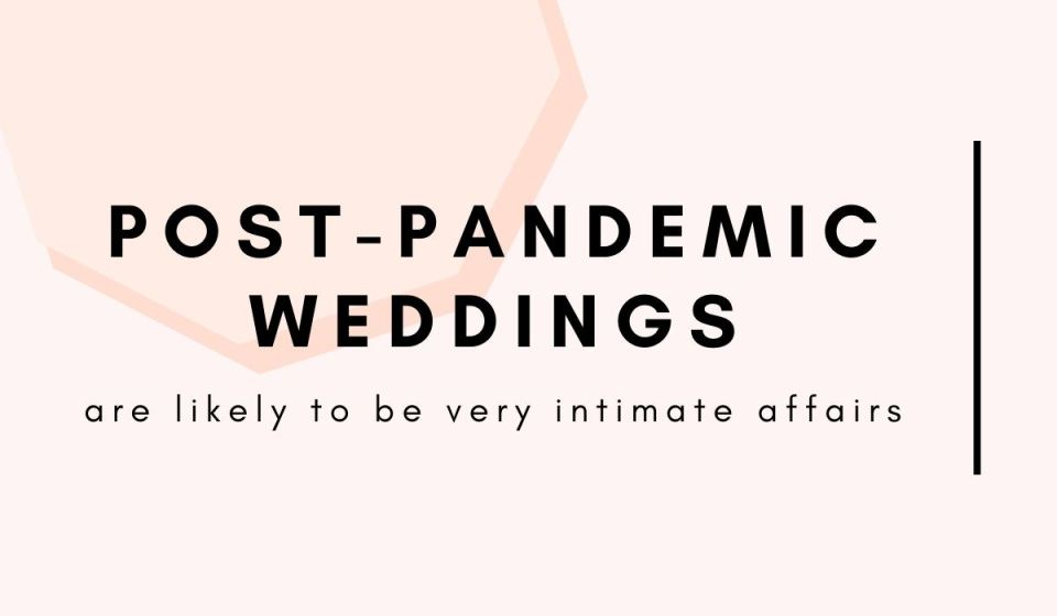 post-pandemic weddings are likely to be very intimate affairs - a wedding industry pro insider's take on DIY weddings