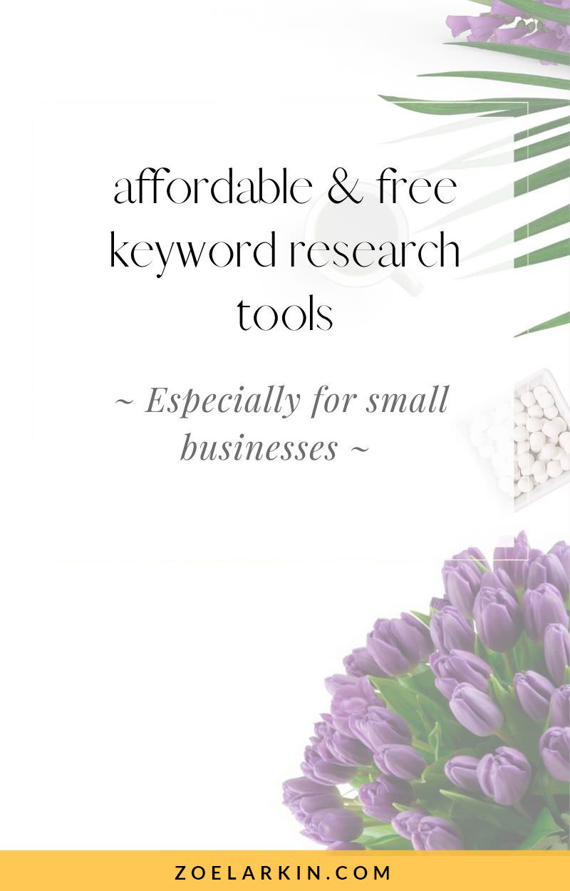 Affordable & FREE keyword research tools especially for small businesses. Sick of hearing about keyword research tools that cost thousands + require a PhD to understand? I'll take you through my 16 favorite keyword research tools that I can't live without as a small business owner in my local service biz. We want simple, easy-to-understand keyword suggestions that won't break the bank! These keyword research tools will help you on your content marketing journey! #seo #localseo | zoelarkin.com