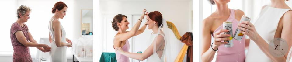 bride getting ready at home photos - light and bright photography style