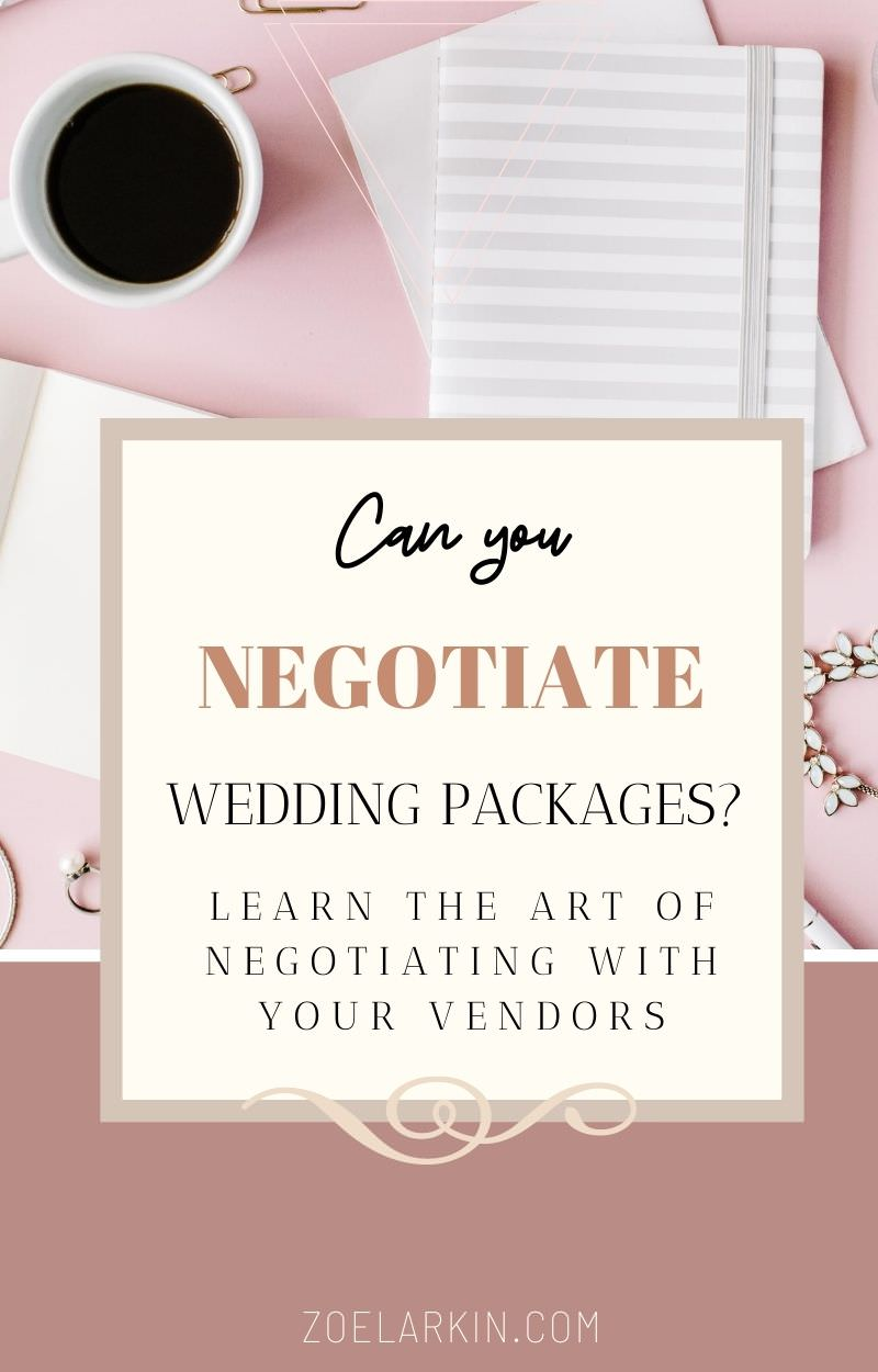 If you're booking a wedding, chances are you want to save as much money as possible on your wedding vendors, including your photographer. This detailed article, written by an established wedding photographer, takes you through everything you need to know before going into a price negotiation. Pricing is a tricky subject to bring up to creative service professionals. Equipping yourself with valuable knowledge is key to successful negotiations | #weddingplanning #weddingphotography zoelarkin.com