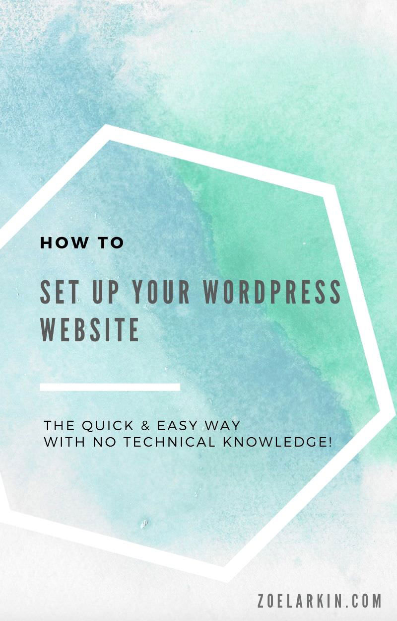 Want to know how to actually set up your WordPress website - when all you have is a domain, a hosting plan, a dream and a prayer? Fear not - I have the guide for you! My tutorial takes you through it step by step so even the most non tech-savvy WordPress beginner can easily grasp the process of configuring your host and your domain so that everything talks to each other and just... works! If you're setting up a WordPress site for the first time, don't miss this! #WordPress | Zoelarkin.com
