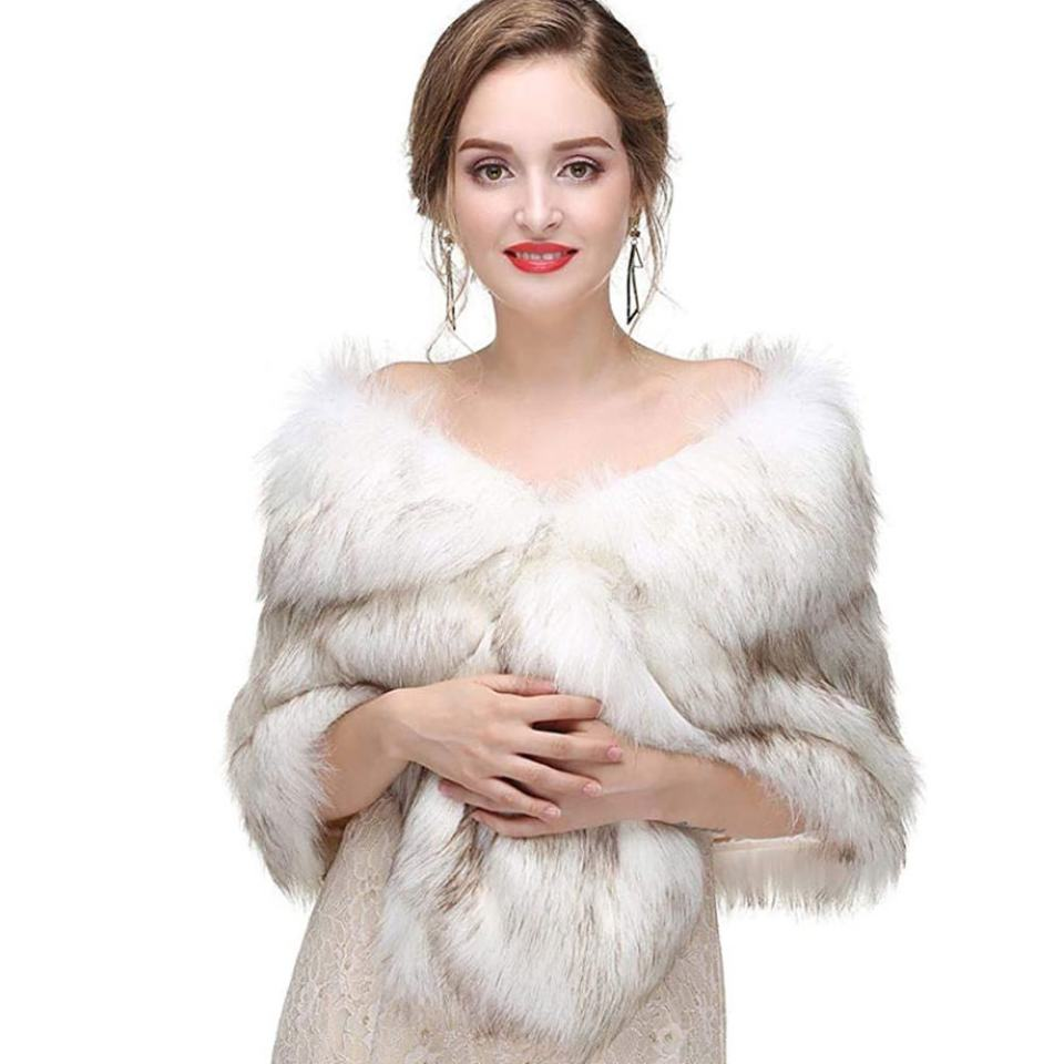 canb amazon faux fur stole