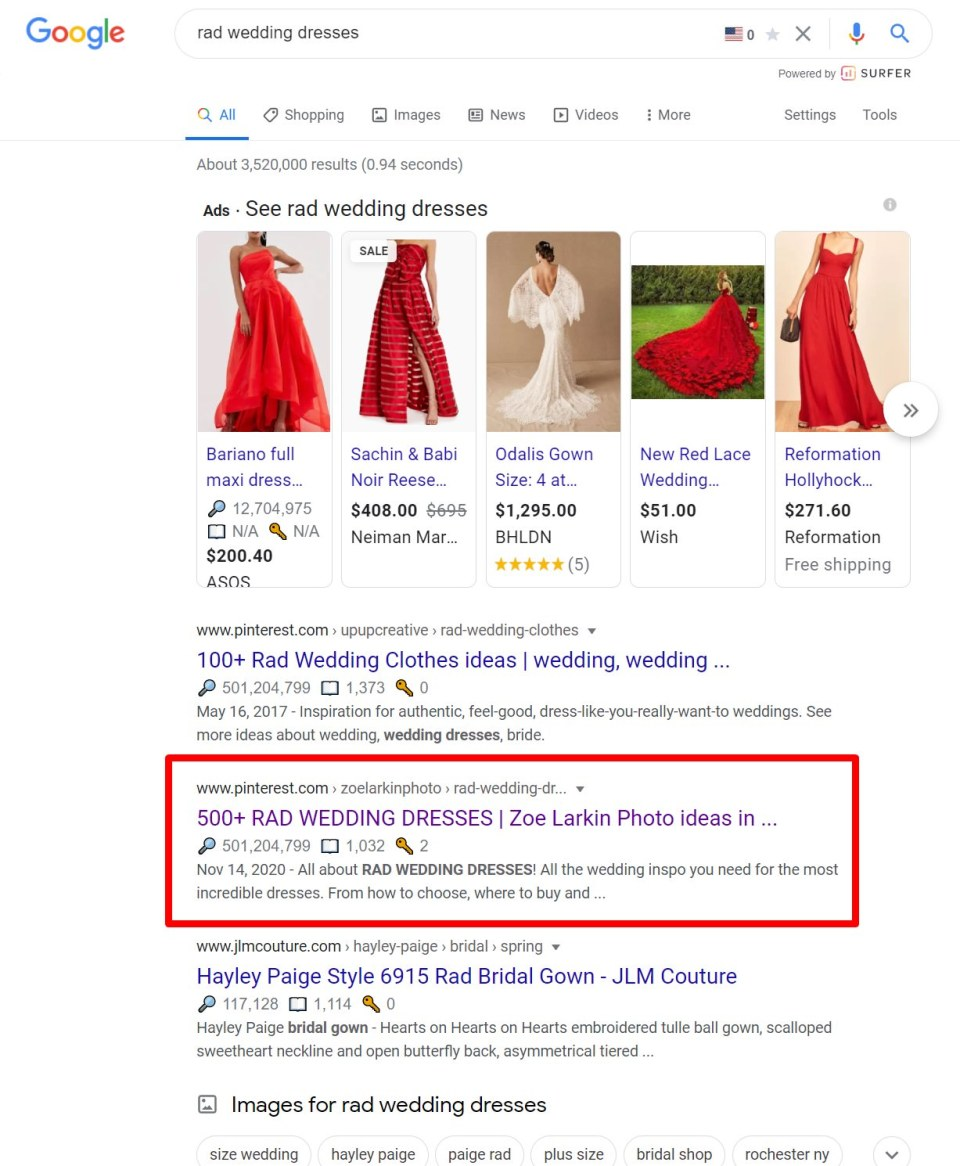 If you optimize well on Pinterest and do keyword research on your boards, you can rank on Google search as well as Pinterest search